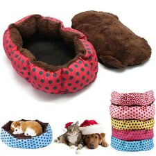 Animal Pet Cat Puppy Small Medium Dog Bed Soft Cushion Kennel Mat Washable Gift