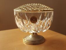 RCR Royal Crystal Rock Flower Holder Vase Roughly 4 inches high with lid.
