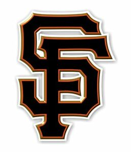 "San Francisco Giants "" SF"" (Black) Decal / Sticker Die cut"
