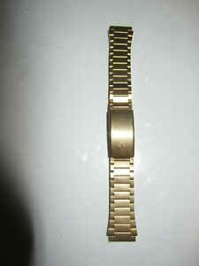 VINTAGE BULOVA ACCUTRON    GOLD COLOR STAINLESS STEEL BAND FOR WATCHES