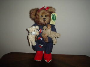 "Bearington 2002 Toby Teddy Bear Winner Raining Cats and Dogs 13"" 1303 RETIRED"