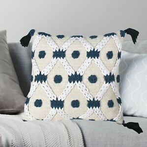 Pillowcase Woven Tufted Wool Embroidered Cotton Cushion Cover Fringe Tassel Case