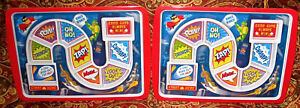 Set Of 2 Fred & Friends DINNER WINNER Kids Divided Plates Trays Lot  Nice Dishes