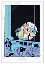 Affiche Sérigraphie Swarte Chanteuse de Jazz signée 50x70 cm
