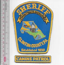K-9 Police Clinton County Sheriff's Police Department Canine Unit Officer & Dog