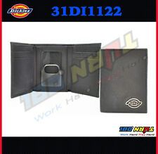 Dickies TRI-FOLD BLACK LEATHER WALLET WITHOUT CHAIN FOR TRUCKERS 31DI1122