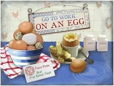 Go to Work on an Egg, Kitchen Cafe, Free Range Breakfast, Novelty Fridge Magnet