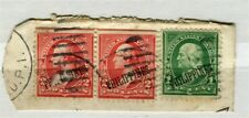 PHILIPPINES; Early 1900s US Optd issues fine used Postmark Piece