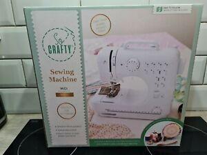So Crafty Midi Sewing Machine White Lightweight For Beginners 12 Stitch Patterns