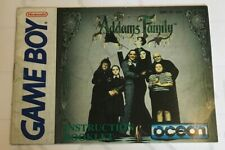 Nintendo GAME BOY The Addams Family Instruction Booklet USA Version Manual only