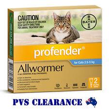 Profender Allwormer Blue for Cats & Kittens 2.5 - 5 kg - Cat Wormer - 2-Pack