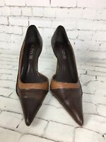 Women's ALDO Brown Pointed Leather Heeled Court Shoes - Size 38 / UK 5