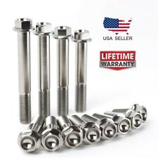 Titanium M10 Bolts Hex Flange Head 20,25,30,35,40,45,50,55,60 mm x 1.25/1.50 mm