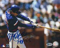 Ryne Sandberg Chicago Cubs Autographed 8x10 Photo Beckett COA With HOF 05