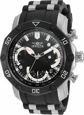 Invicta Men's Pro Diver Chrono 100m Stainless Steel Black Silicone Watch 22797
