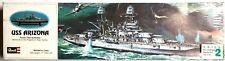 "REVELL USS ARIZONA SKILL LEVEL 2 COLOR MOLDED 17"" MODEL BATTLESHIP ~ NEW IN BOX"