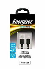 Energizer Hightech USB-Micro Ultra Flat Cable,1.2m(4ft) Black,Micro-USB-free P&P