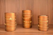 Bougies Set 3 pièces avec bougie chauffe-plat étoile motif NEUF/emballé
