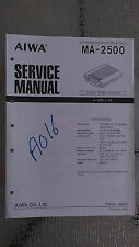 New listing aiwa ma-2500 Service Manual Original Factory Repair book car stereo power amp