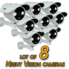 Lot of 8 CCTV Outdoor Security Surveillance BULLET Color Cameras Night Vision