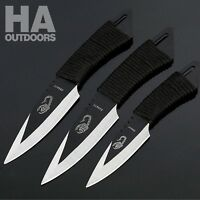 3in1 Steel blade knife hunting Tactical knife pocket knife Camping AU STOCK