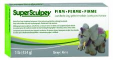 Super Sculpey Firm Gray Oven Bake Clay, 1 lb/454 g - BEST FRESH VALUE EUROPE