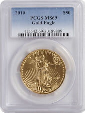 2010 - $50 1oz American Gold Eagle MS69 PCGS Blue Label