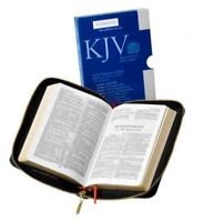 Holy Bible : King James Version, Black French Morocco Leather with Zip Fasten...