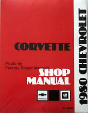 1980 Chevy Corvette Factory Service Manual Shop Repair Reprint