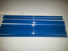QTY 5 (FIVE) A4 SLIDE BINDERS 7MM CAPACITY BLUE --LENGTH 297 MM-SQUARE
