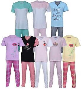 Womens Ladies Printed Pyjama Set Pjs Pajamas Nightwear Loungewear Cotton New