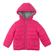 NWT Toddler Girl Carter's Heavyweight Kitty Cat Puffer Jacket Pink Fuchsia 2T