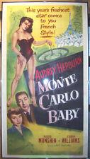 MONTE CARLO BABY MOVIE POSTER AUDREY HEPBURN LB 3 SHEET