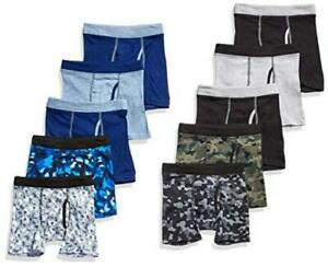 Hanes Boys' Boxer Brief, Assorted Prints &, Assorted Prints & Solids, Size Large