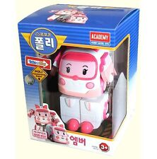 """ACADEMY 83172 ROBOCAR POLI Transforming Toy Robot Series """"AMBER"""" 4.3in"""