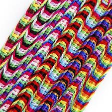 bulk lot 9 Colorful Handmade Multi Warp Woven Friendship Cuff Bracelet Wristband
