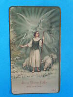 IMAGE PIEUSE HOLY CARD JEANNE D ARC ARCHANGE SAINT  MICHEL    THFR