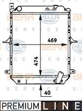 8MK 376 722-131 HELLA Radiator engine cooling