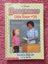 "THE BABY SITTERS  CLUB  LITTLE SISTER # 38 ""KAREN'S BIG LIE"" BY ANN M. MARTIN"