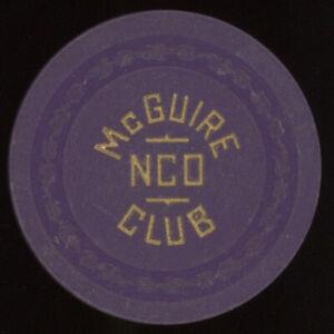.25 McGUIRE NCO NEW JERSEY CASINO POKER CHIP CASINO CHIP