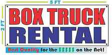 BOX TRUCK RENTAL Banner Sign NEW Larger Size Best Quality for the $$$ RW&B