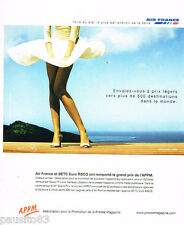 PUBLICITE ADVERTISING 085  2003  AIR FRANCE  & BETC EURO RSCG  prix APPM