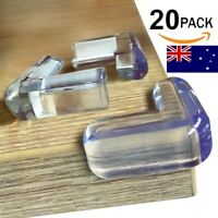 20x Desk Edge Soft Protectors Table Corner Cushion Baby Child Safety Guard Clear