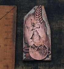 ENGEL Welt Galvano Druckplatte Klischee Eichenberg printing plate copper print