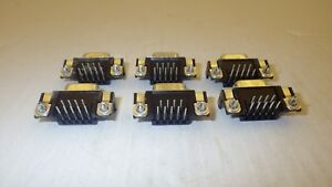 TYCO 5747844-3 CONNECTOR CONN D-SUB RCPT R/A 9 POS GOLD (LOT OF 6) NNB