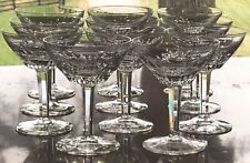 11 Royal Leerdam Netherlands 1954 RUBATO Cut Glass Crystal Cocktail Goblets Set