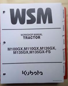 2009 KUBOTA M100X M110X M126M M135X M126XDTPC TRACTOR SERVICE WORKSHOP MANUAL