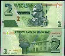 ZIMBABWE 2 DOLLARS 2016 P 99 UNC