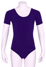Mondor 496 Violet Purple Women's Size Small (4-6) Short Sleeve Leotard