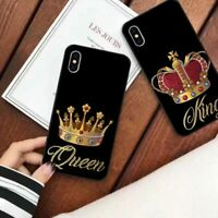 Luxury Crown Phone Case For iPhone XS MAX XR X 7 8 6 11 Plus King Queen Soft TpU
